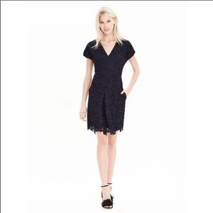 Navy lace Banana Republic dress